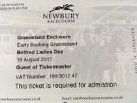 2 x tickets for Ladies Day at Newbury Racecourse with Olly Murs