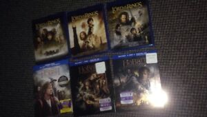 Lord of The Rings Trilogy + The Hobbit Trilogy in Blu Ray