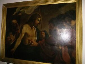 Oil on Canvas - Incredulity of St. Thomas - After Guercino