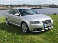Audi A3 2.0 Tdi, S-Line Sportback. Comes with Full m.o.t, 6 months extendable warranty. Low miles