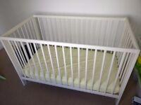 Baby Cot - IKEA (Gulliver) + bedding