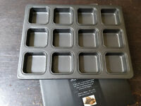 12 hole square pan for making brownies/flapjacks