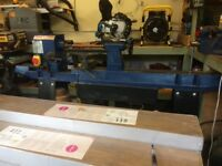 Charnwood w812 wood lathe,10speed new motor,new pulleys,switch,set of chisels,wood blanks,revolving