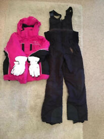 Girls 9/10 Ski Set bundle