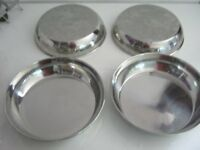 Stainless Steel Serving Pots X4 (new)