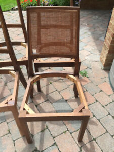 6 Honderich Walnut Chairs $40/set