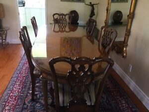 Jansen Louis IX Mahogany Dining Room Set With 6 Chairs