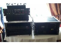 dj equipment amplifiers crossover mixer lighting controller
