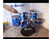 Metallic blue Boston drum kit for sale