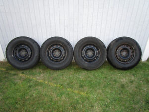 """4x Black steel winter rims 16"""" (5x114.3 bolt pattern)"""