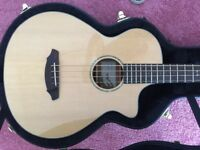 Like New Breedlove Passport Plus Base guitar, cedar and rosewood, play as acoustic or with amp