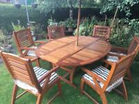 REDUCED IN PRICE QUALITY 6 SEATER GARDEN FURNITURE SET