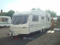 1993 lunar delta 5 berth twin axle caravan