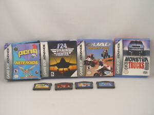 Nintendo Game Boy Advance 8 Games 4 Boxed with Instuctions