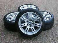 BMW 17 inch M sport Staggered Alloy wheels 5x120 e90 e92 e87 e46 etc