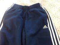 adidas boys age 13-14 navy trousers