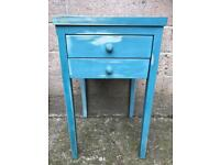 Distressed blue bedside drawers FREE DELIVERY PLYMOUTH AREA