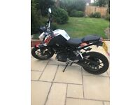 KTM Duke 125cc, £3,200 ONO (extras included in price)