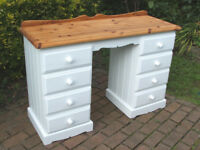 Ducal Solid Pine Pretty Vintage Dressing Table - Desk - Shabby Chic - White
