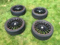 "17"" 205 Dezent TE Black Alloy Wheels 17 inch alloys"