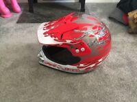 Boys motor cross helmet