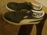 Puma Suede Agave Green UK size 8 - NEW without box