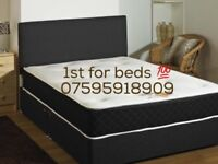 Black bed set double small or Kingsize with mattress