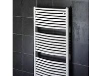 1200mm X 750mm White curved towel rails