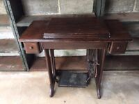 VINTAGE 1936 TREADLE SEWING MACHINE IN WORKING ORDER made in America