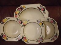 Devon Ware fuit bowl and dishes Fieldings
