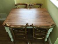 Table and Four Bistro Chairs 4ft x 3ft