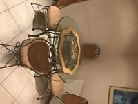 Glass Dining table, 4 chairs , Very high quality heavy imported form USA Only £150 ono