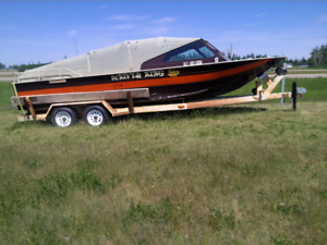 RIVER BOAT WITH TRAILER FOR SALE