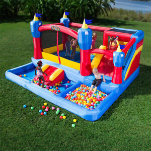 Kids Kingdom Combo Bouncy Castle Rental With Ball Pit & Slide!!!