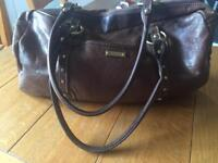 Storksak leather changing bag