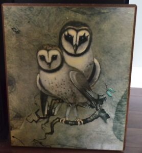 """Barn Owls"" painting by Richard Hinger"