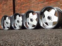 Borbet A deep dish alloy wheels, 4x100, 9J, Vw Golf Mazda mx5, Bmw e30