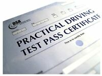 Pass with DVSA Aproved Driving Instructor