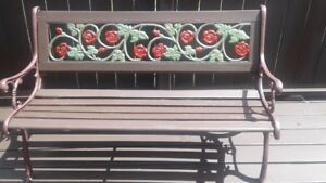 GARDEN/PATIO PARK BENCH $60.00  CRAB-POT TABLE $60.00