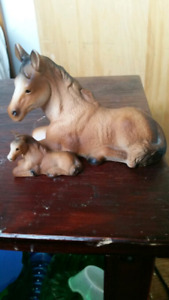 Ceramic mare and foal