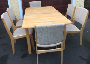 Beautiful Maple Dining Table & Six Chairs Like New