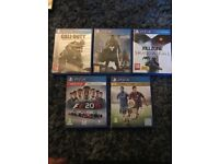 5 all working PS4 Games