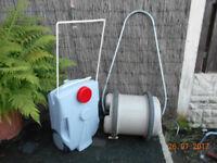 aqua roll water barrel & handle also new waste water tank