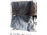 Size 10 ladies clothes bundle 6 of short skirts denium leopard black - from a pet & smoke free home