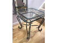 Wrought Iron Glasses ss Top Table