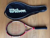Wilson Six-One Team Tennis Racket with full cover