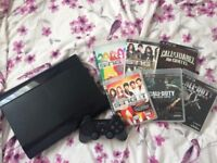 PS3 12GB super slim model with games all leads and 1 controller in fully working order