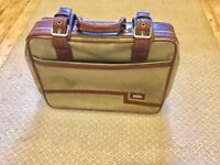 Small Old style Fabric suitcase