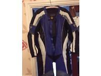Men's motorcycle all in one leathers. Frank Thomas kangaroo skin