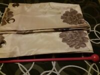 Good quality unused ladies curtains and pole.